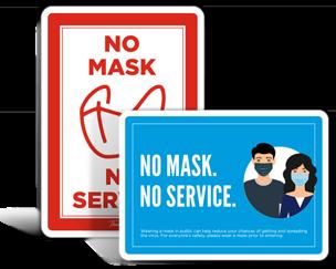No Mask No Service Signs