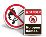 No Open Flame Labels