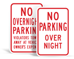 No Overnight Parking Signs