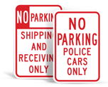 No Parking - Reserved Signs