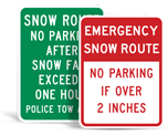 No Parking Snow Related Signs