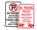 No Parking Tow-away Signs