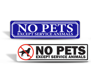 No Pets Allowed Stickers