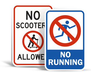 No Playing Signs
