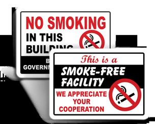 No Smoking Facility Signs
