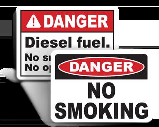 No Smoking Safety Signs