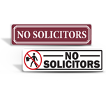 No Soliciting Decals