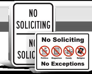No Soliciting Signs