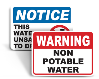 Non Drinking Water Signs