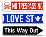 Novelty Street Signs