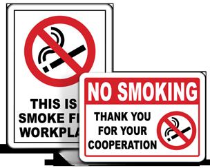 Office No Smoking Signs