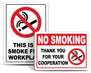 Office No Smoking Signs