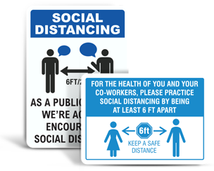 Office Social Distancing Signs