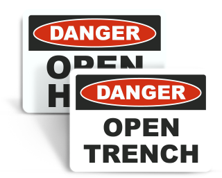 Open Trench Safety Signs