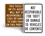 Parking Lot Property Signs