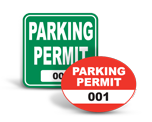 Parking Permit Stickers