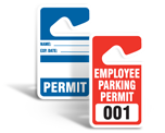 Parking Permit Tags