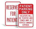 Patient Parking Signs