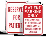 Patient Parking Signs