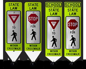 In-street Crosswalk Signs