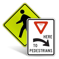 Pedestrian Traffic Signs