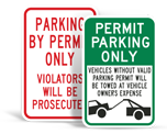 Permit Parking Signs