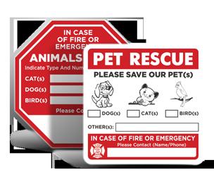 Pet Alert Decals