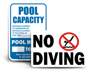 pool area signs - Pool Signs