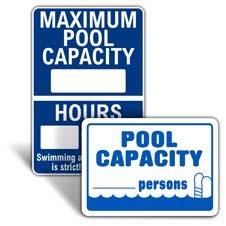 Pool Capacity Signs