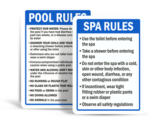 Pool Signs By State