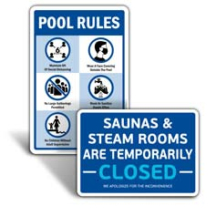 Social Distancing Signs for Pools