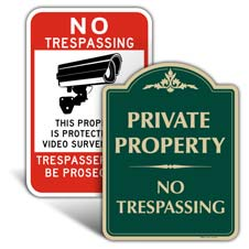 Property / Security Signs