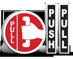 Push Pull Stickers