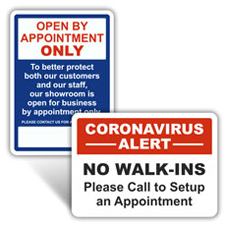Appointment Only Signs