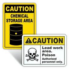 Caution Chemical Hazard Signs