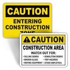 Caution Construction Signs