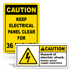 Caution Electrical Safety Labels