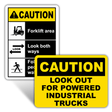Caution Forklift Signs