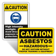 Caution Health Hazard Signs