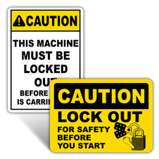 Caution Lockout Signs