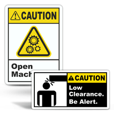 Caution Machine Safety Labels