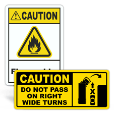 Caution Safety Labels
