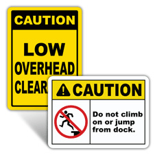 Caution Warehouse Signs