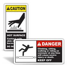 Conveyor Warning Labels