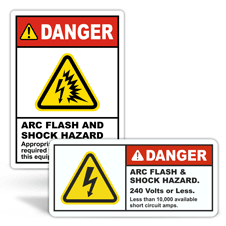 Danger Arc Flash Labels