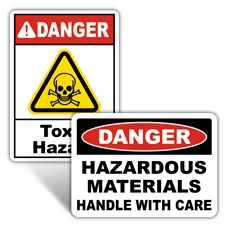 Danger Chemical Hazard Signs