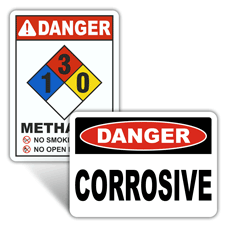Danger Chemical Identification Signs