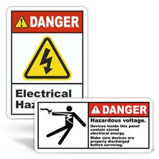 Danger Electrical Safety Labels