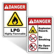 Danger Flammable Materials Signs