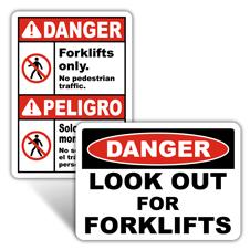Danger Forklift Signs